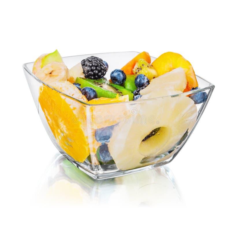 Verse vruchten salade royalty-vrije stock afbeeldingen