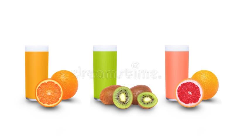 Verse vruchtesappen royalty-vrije stock afbeelding