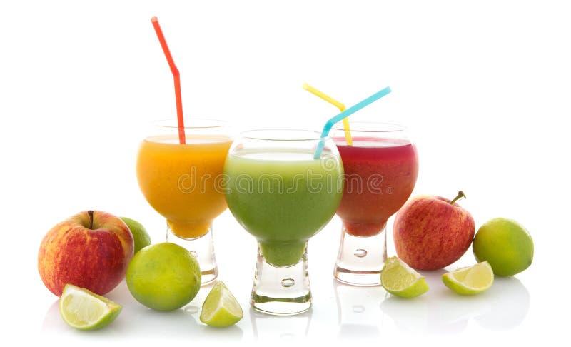 Verse vruchtesappen stock fotografie