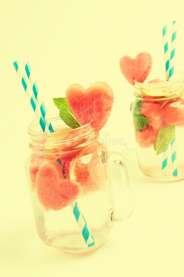Verse watermeloendranken royalty-vrije stock afbeelding