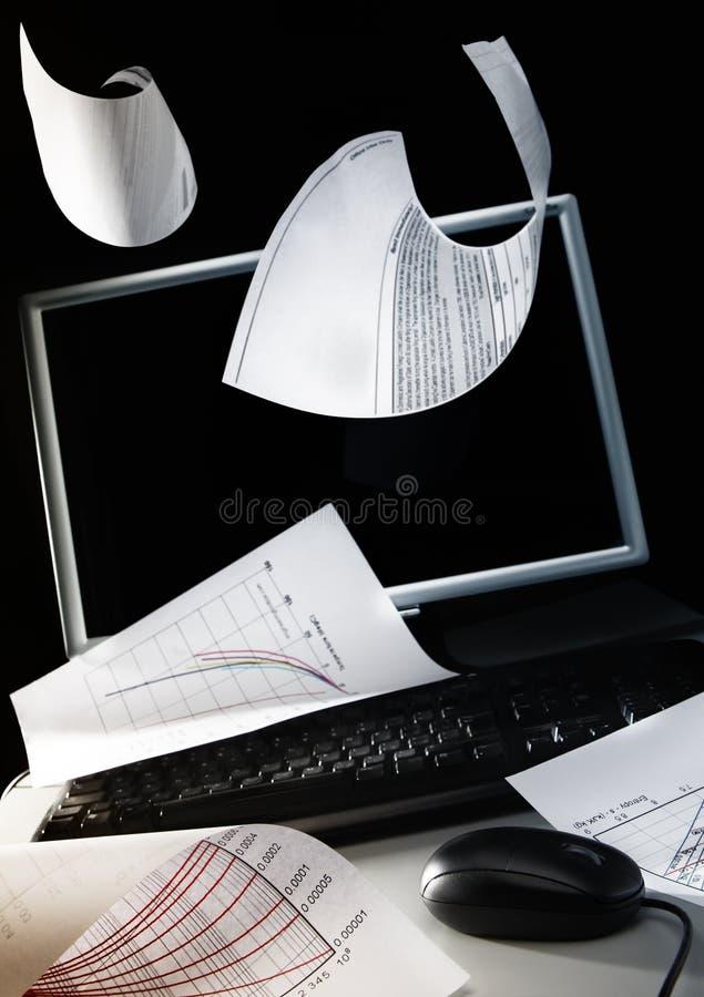 Verse wind op een Desktop stock afbeelding