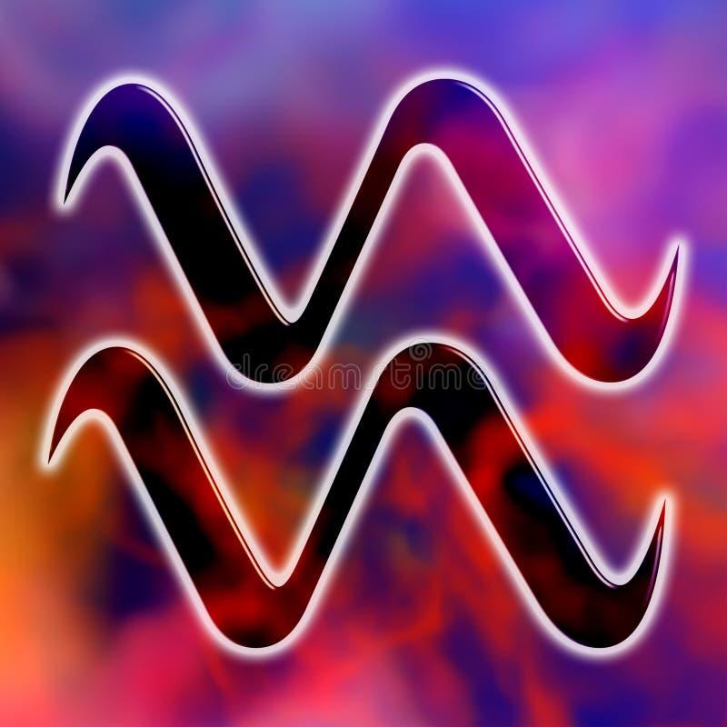 Verseau astrologique de signe illustration stock