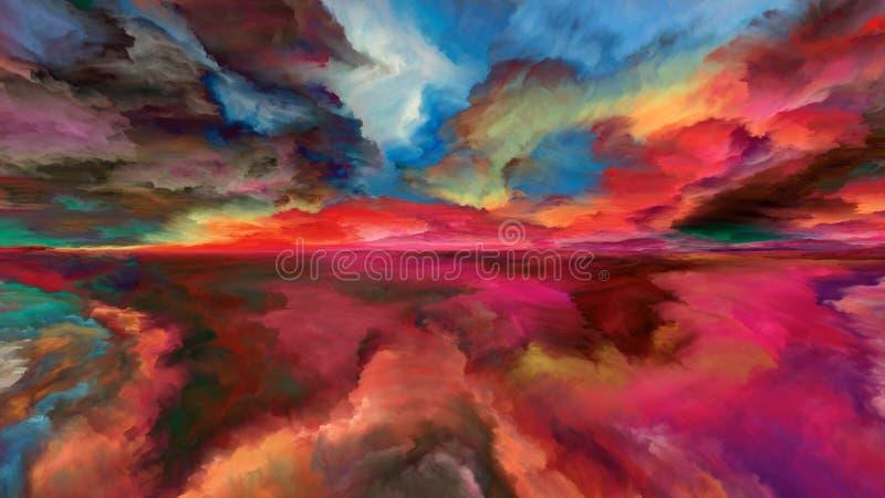Versehentliche abstrakte Landschaft stock abbildung