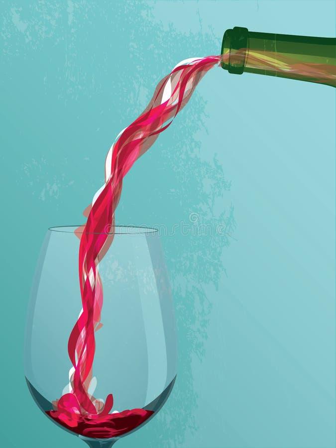 Versement de vin illustration stock