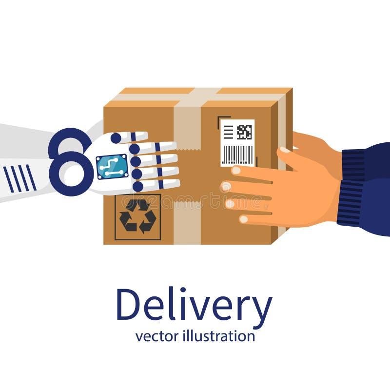 Versenden und beweglicher Service-Hintergrund roboter stock abbildung