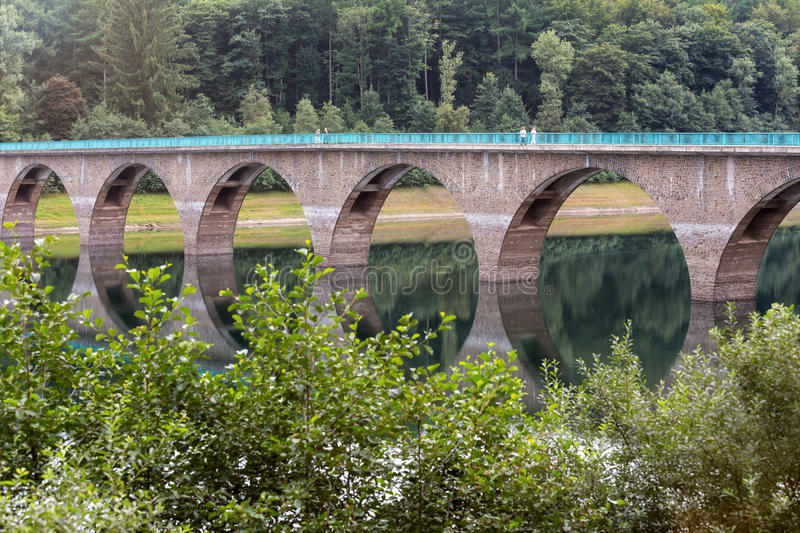 Versetalsperre dam germany. The versetalsperre dam in germany stock images