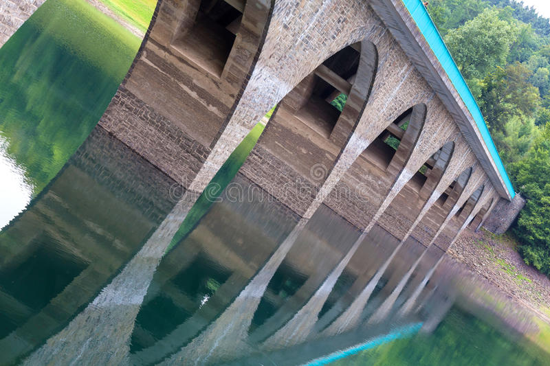 Versetalsperre dam germany. The versetalsperre dam in germany royalty free stock photography