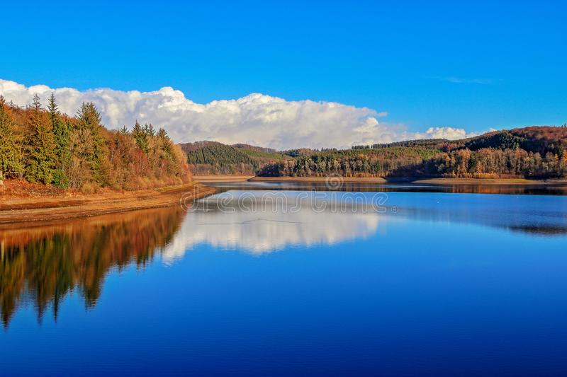 Versetalsperre in the Sauerland, Germany. Beautiful view over the Versetalsperre in Sauerland, Germany. A drinking water dam stock image
