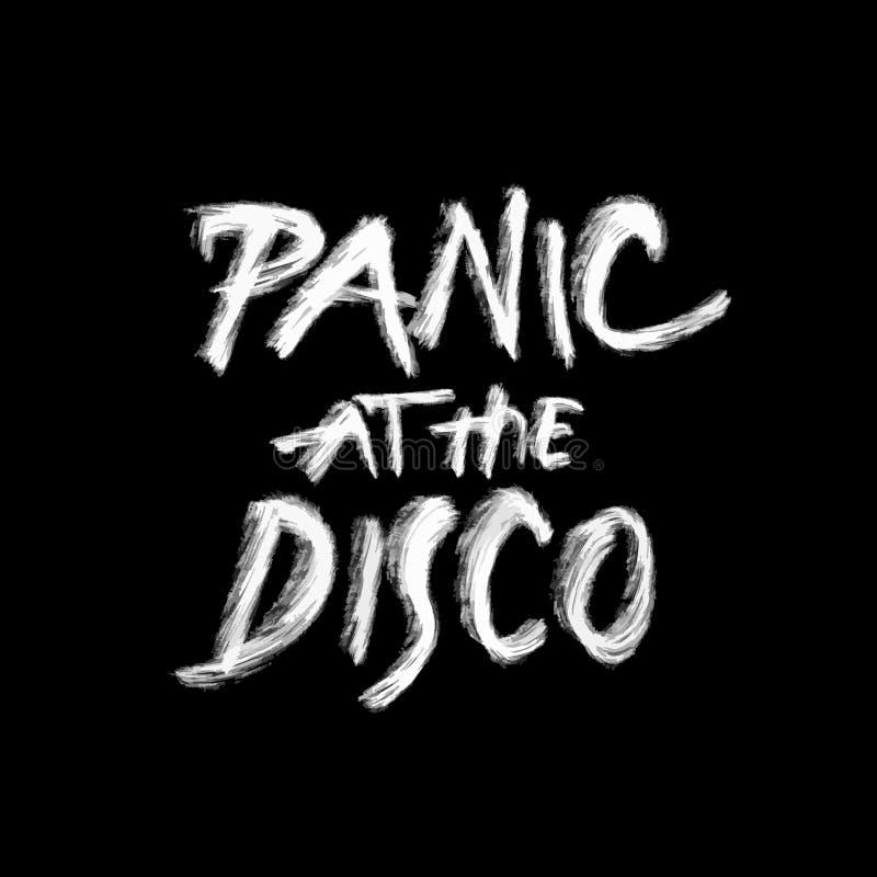 Versetzen Sie an der Disco, Kreidebeschriftung auf Schwarzem in Panik vektor abbildung