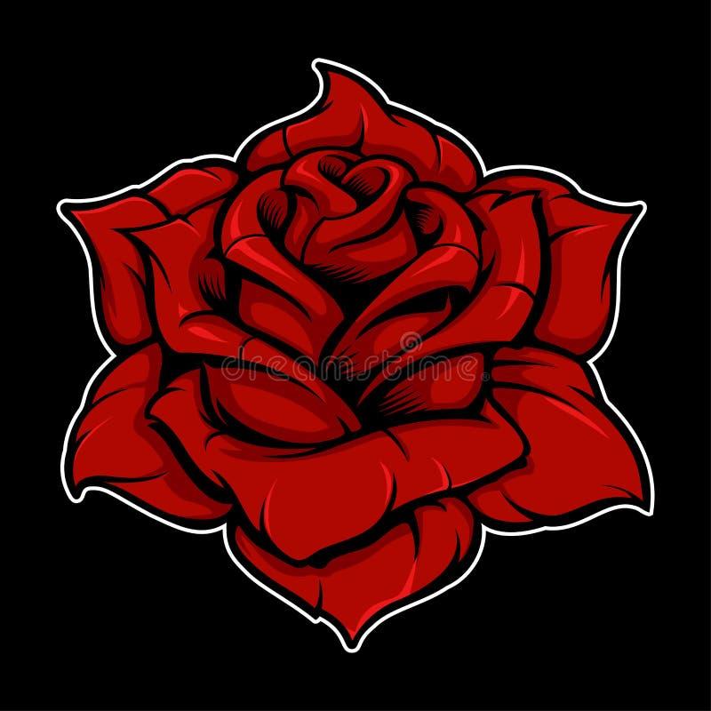 Versión del color de Rose ilustración del vector