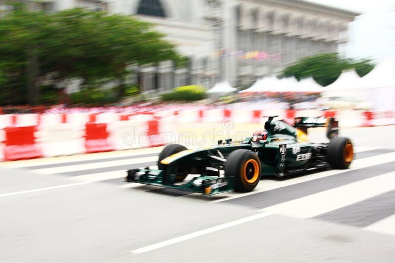 Versión parcial de programa magnífica de la raza de Malasia F1 Prix 2011 foto de archivo