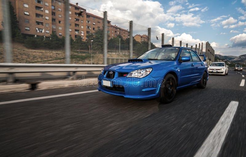 Versi?n 2006 del STI de Subaru Impreza imagenes de archivo