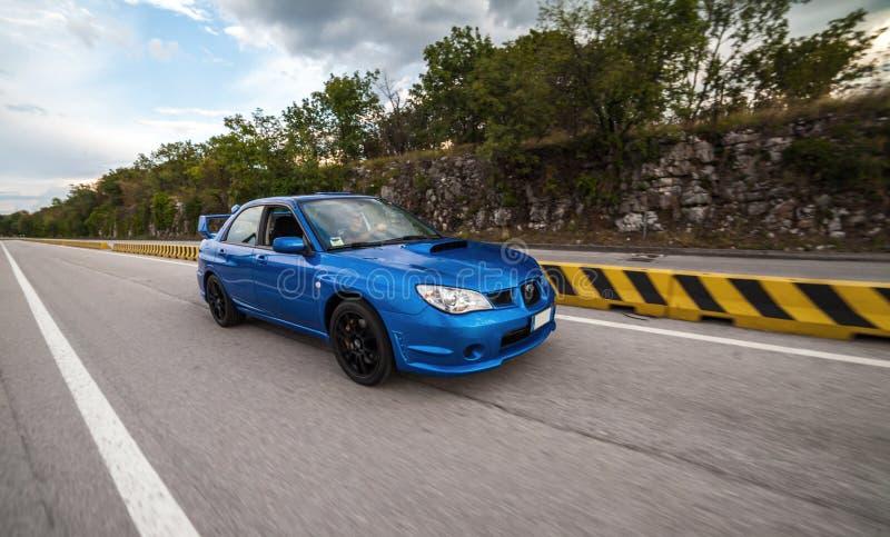 Versi?n 2006 del STI de Subaru Impreza imágenes de archivo libres de regalías