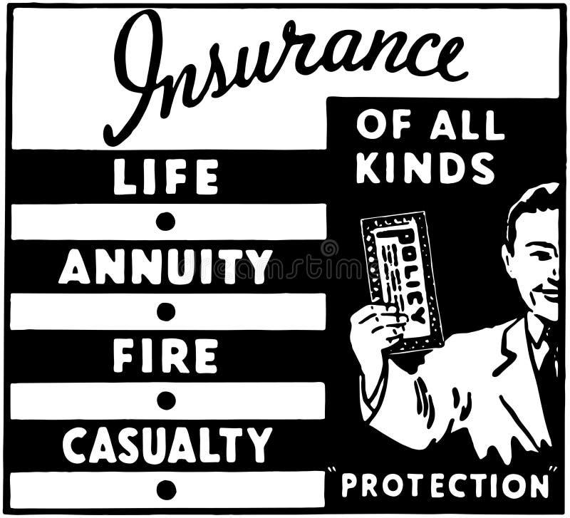 Versicherung aller Arten 3 lizenzfreie abbildung