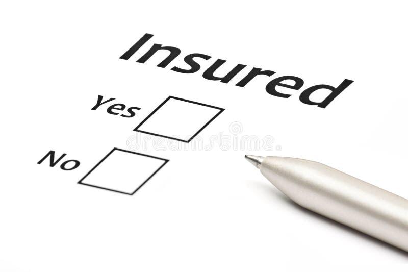 Versicherungs- oder Gefahrgeschäftskonzept lizenzfreie stockbilder