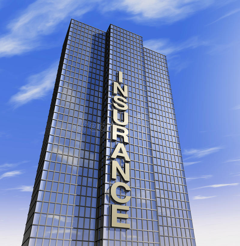 Versicherungsgesellschaft Hauptsitz gehabt lizenzfreie abbildung