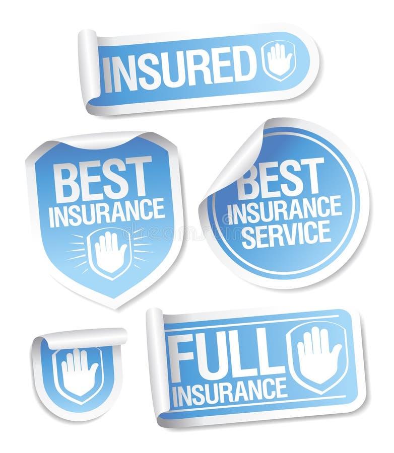 Versicherungsservice-Aufkleber. stock abbildung