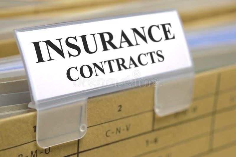 Versicherungsverträge stockfotografie
