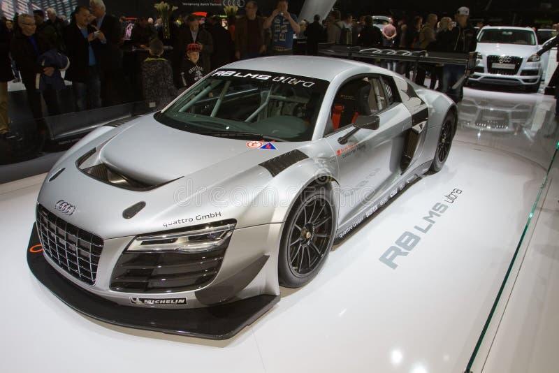Audi R8 LMS ultra - de Show van de Motor van Genève 2013 stock foto