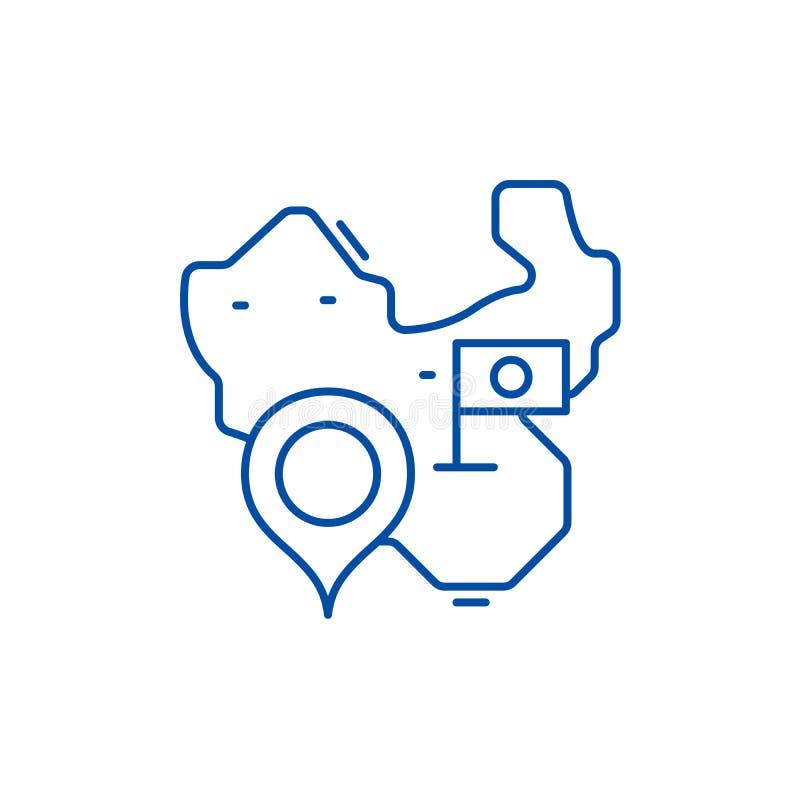 ?versikt av porslinlinjen symbolsbegrepp Översikt av det plana vektorsymbolet för porslin, tecken, översiktsillustration stock illustrationer
