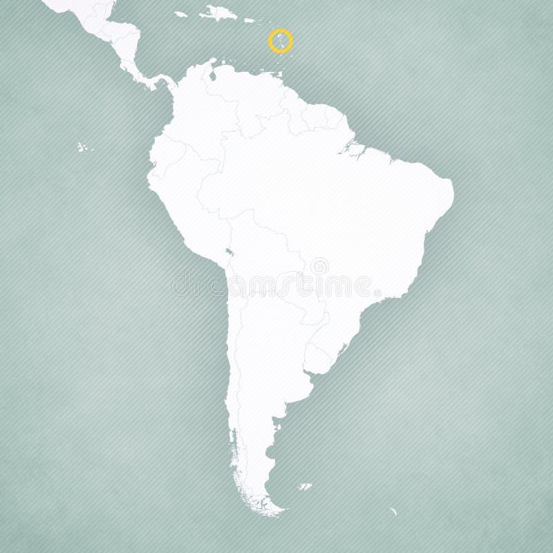 ?versikt av Sydamerika - Dominica stock illustrationer