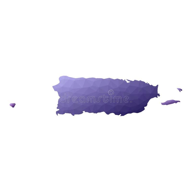 ?versikt Puerto Rico vektor illustrationer