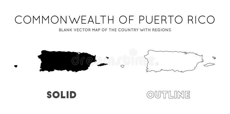 ?versikt Puerto Rico stock illustrationer