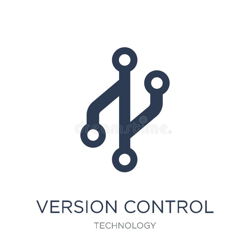 Version control icon. Trendy flat vector Version control icon on royalty free illustration