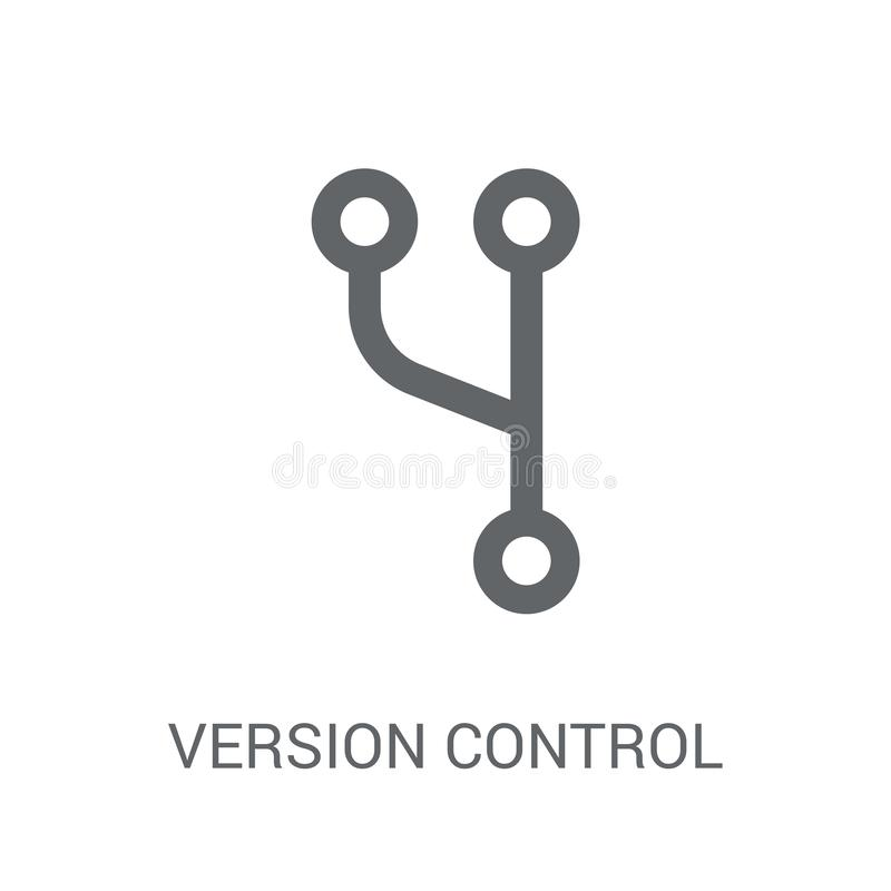Version control icon. Trendy Version control logo concept on white background from Technology collection stock illustration