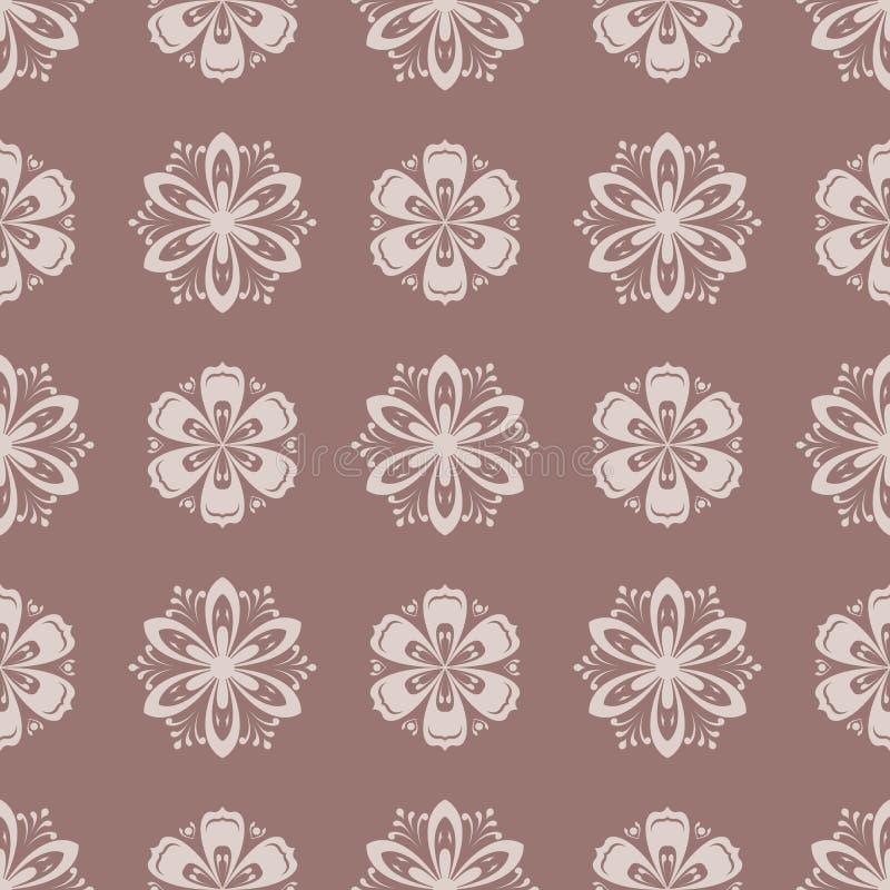 Version ENV-8 Nahtloses Muster Browns als Textilhintergrund lizenzfreie abbildung