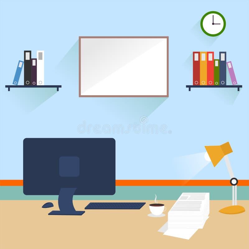 Version 2 för arbetsskrivbordvektor arkivbild