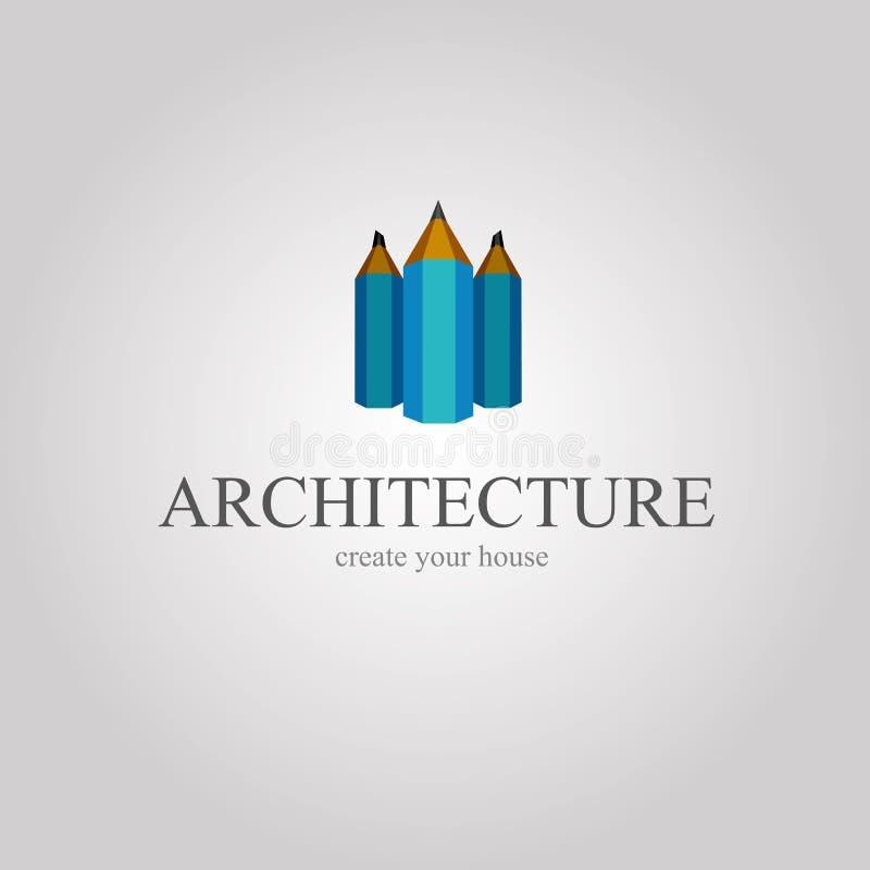 Version för blyertspenna—stad av arkitektur vektor illustrationer