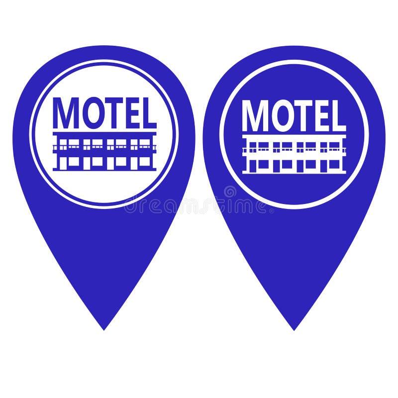 Version för färg för motellstiftpekare itu vektor illustrationer