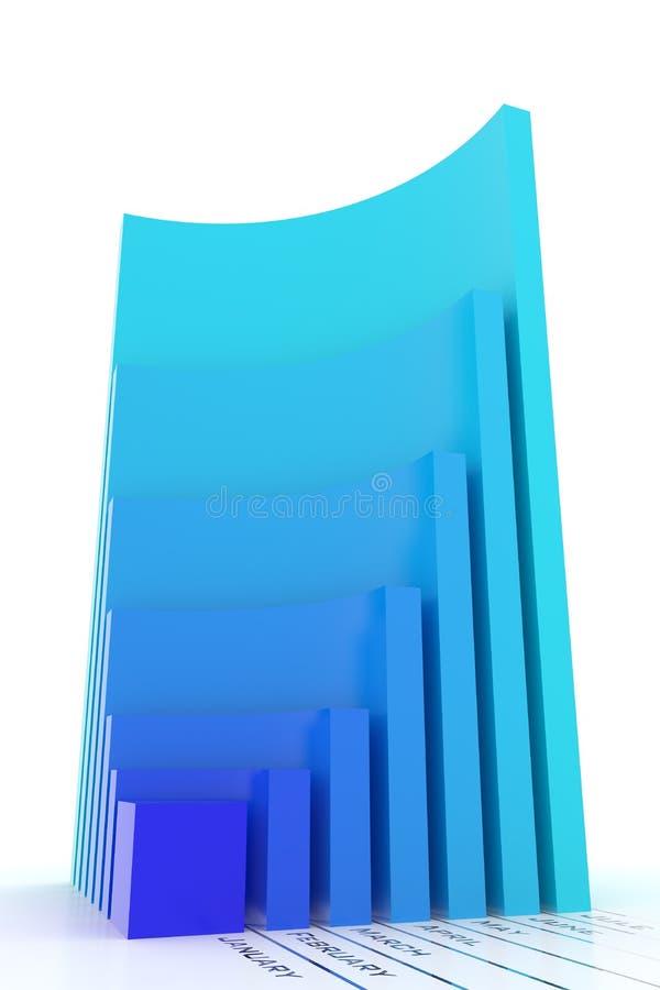 version mensuelle de gestion d'accroissement bleu de graphique illustration stock