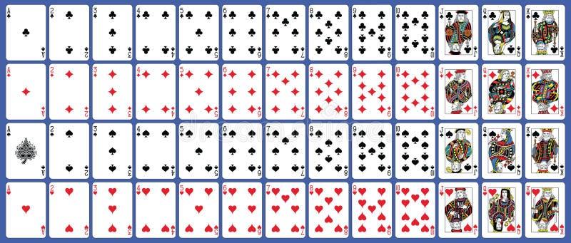 Versione completa del francese della carta da gioco della piattaforma