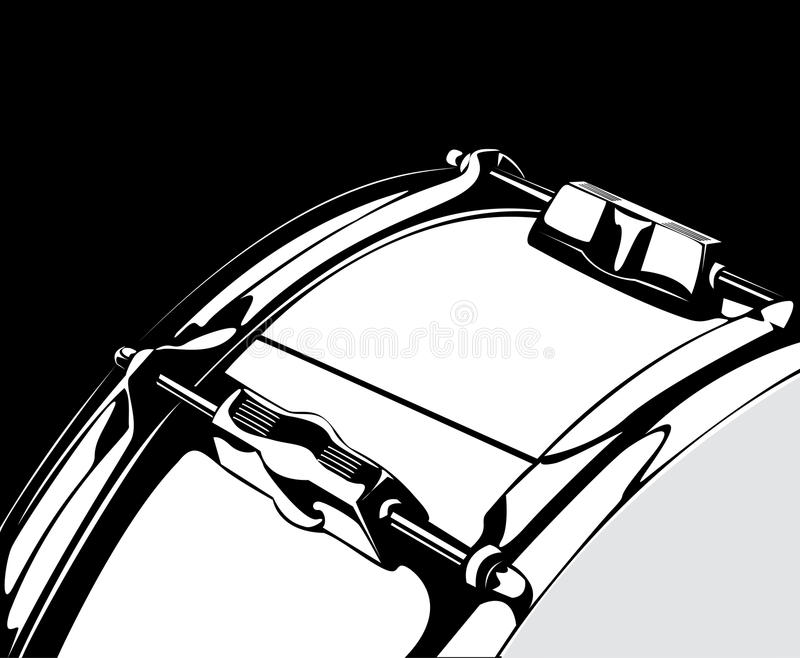 Versione nero-bianca del tamburo di trappola royalty illustrazione gratis