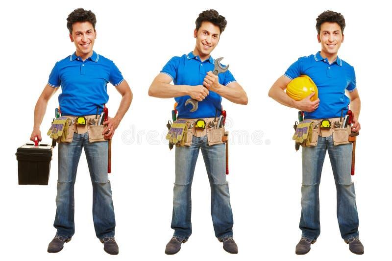 Versioner av hantverkaren eller hantverkaren arkivbild