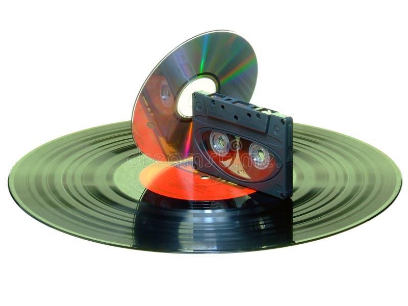 Verslag/Cassette/CD stock foto