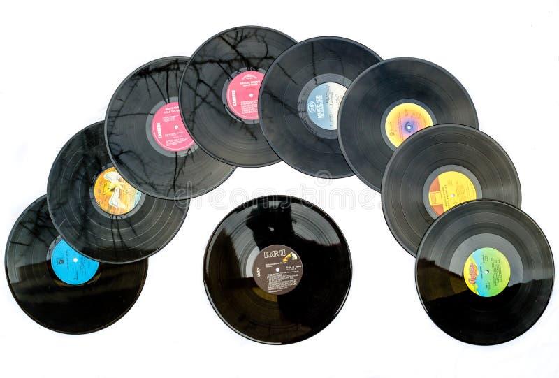 verslagen van de jaren '70 de vinyldisco royalty-vrije stock foto