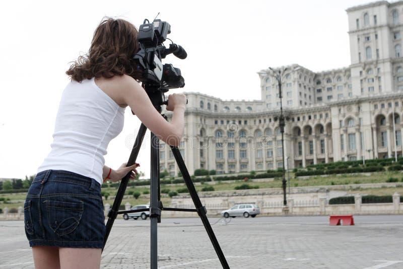 Verslaggever stock afbeelding