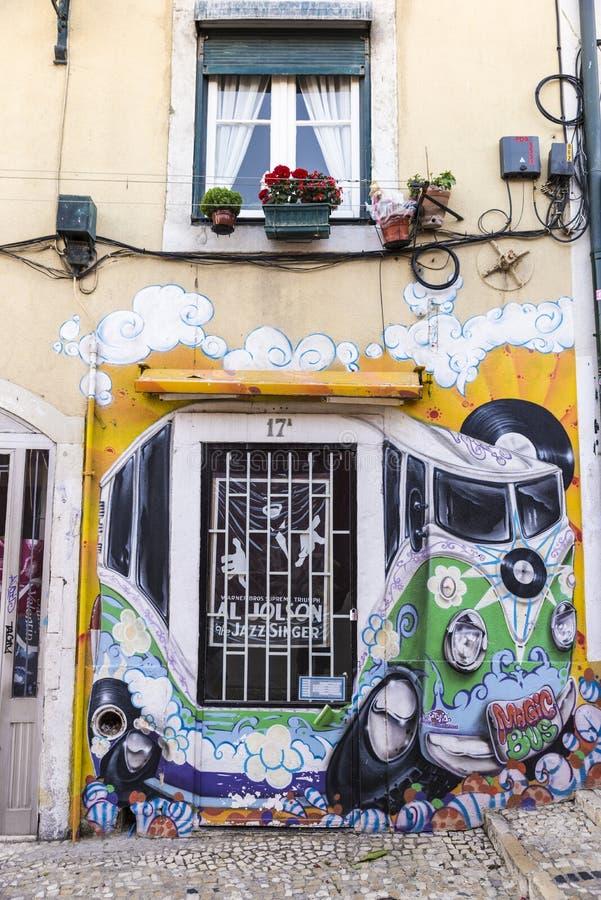 Verslagopslag in Lissabon, Portugal stock afbeeldingen