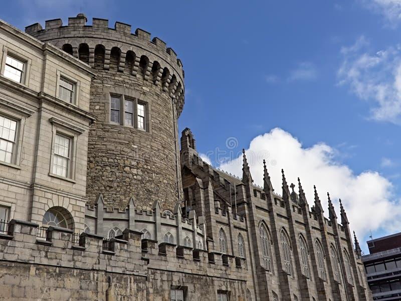 Verslagtoren, detail van Dublin Castle, Ierland royalty-vrije stock fotografie