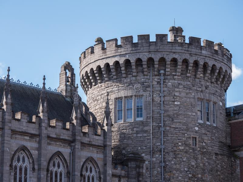 Verslagtoren, torentje van Dublin Castle, Ierland royalty-vrije stock foto