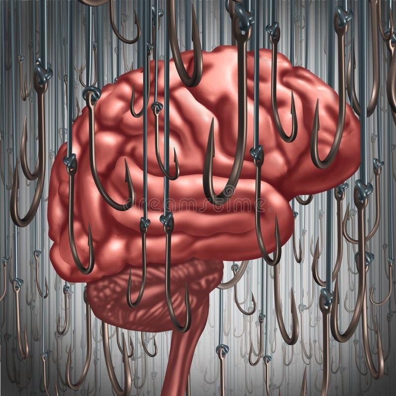 Verslaving en Gebiedsdeel stock illustratie