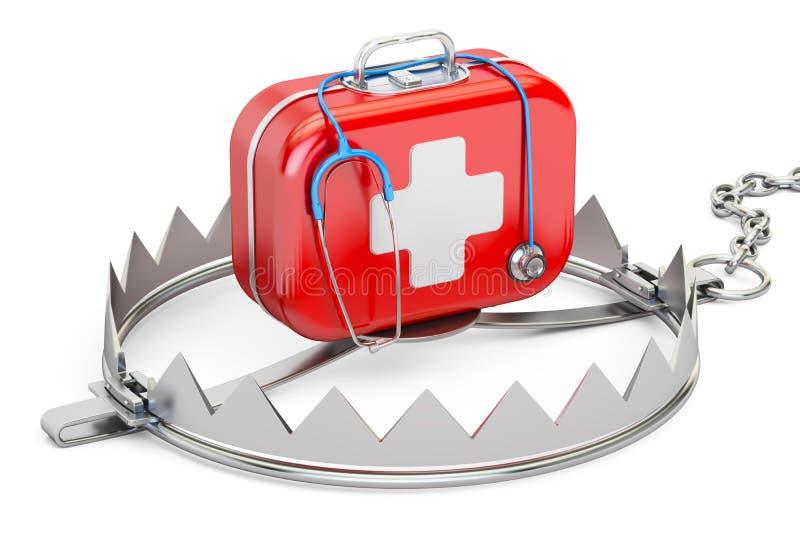 Verslaving van geneeskunde en farmaceutisch de industrieconcept Tra vector illustratie