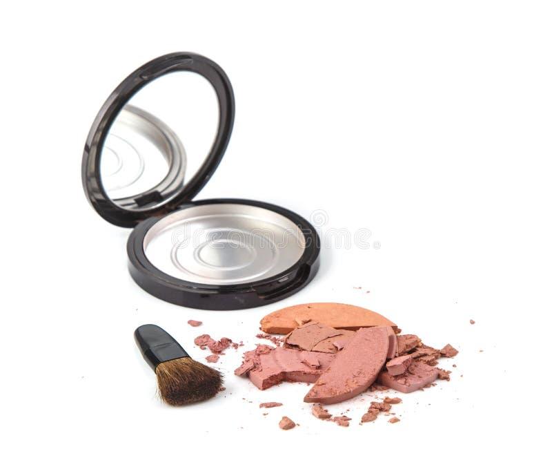 Verslechter roze rouge met borstel stock foto's