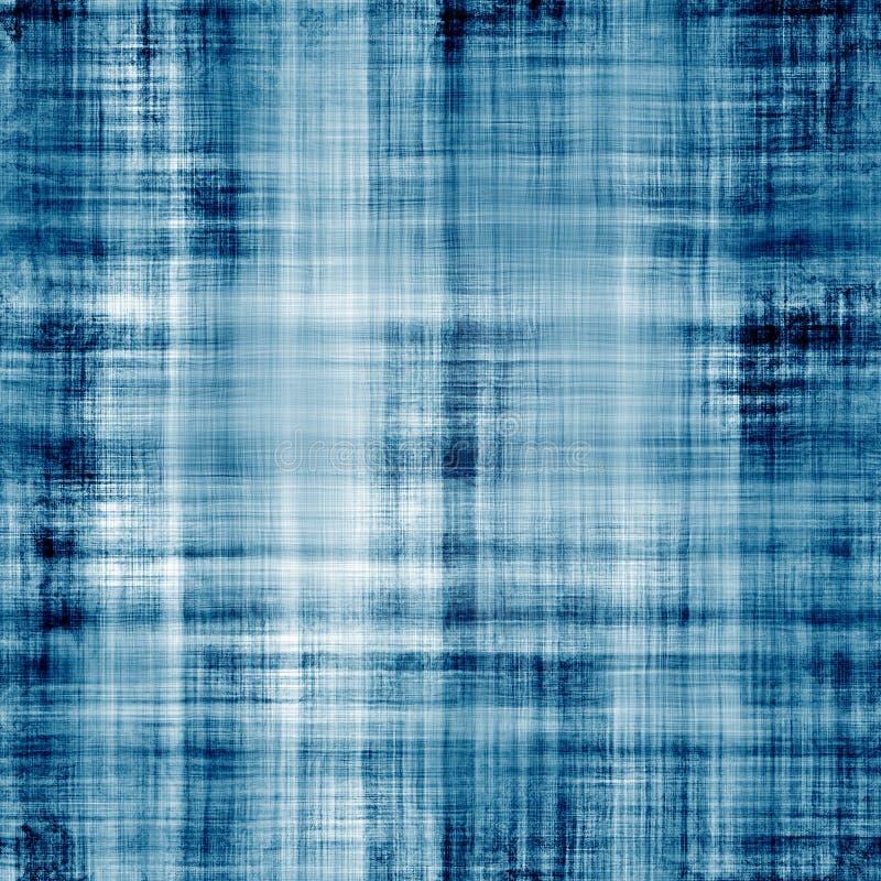 Versleten blauwe stoffentextuur met zichtbare draden stock illustratie
