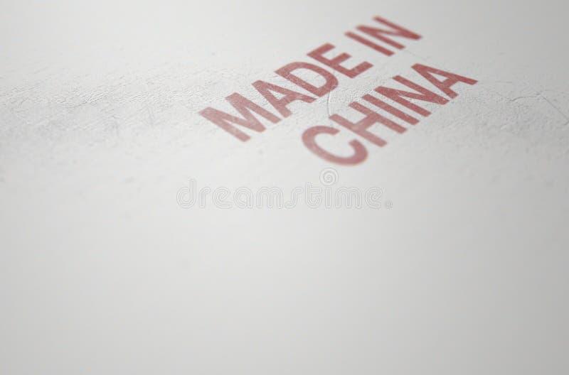 Versleten drukteken dat gemaakt in China leest stock foto's