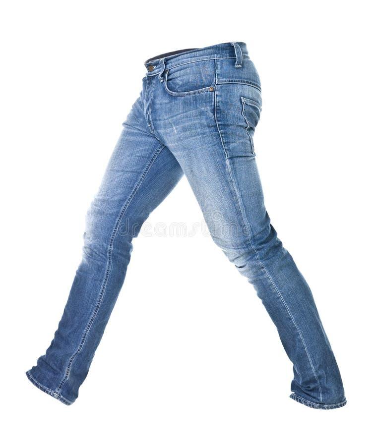 Versleten geïsoleerdeg jeans stock fotografie