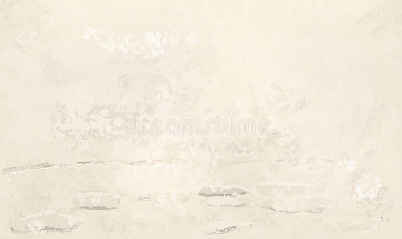 Versleten gepleisterde beje muur royalty-vrije illustratie